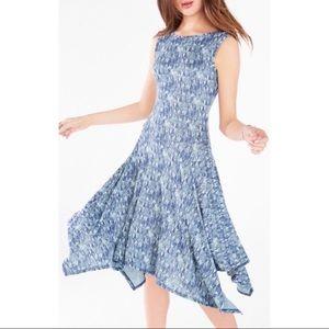 BCBGMaxAzria Eleyna Geometric Knit Jacquard Dress